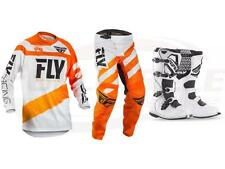 Fly Racing Orange/White F-16 Jersey Pant Boot Combo Set MX/ATV MX Riding Gear 18