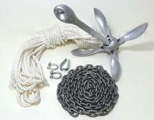 Folding Grapnel Anchor Kit 0.7 kg Galvanised Boat Dinghy Fishing SUP