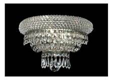 Primo Clear Crystal Sconce w 2 Lights in Chrome [ID 962674]