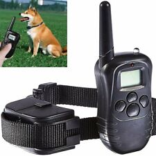 LCD Electric 100LV Levels Shock Vibra Pet Dog Training Remote Control E-Collar A
