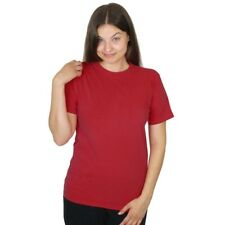 Womens 100% Organic Cotton Solid Color Crew Tee - Thousand Mile - Made in USA