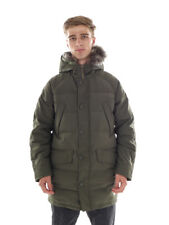 O`Neill Parka Winter Coat Jacket Down green hood quilted Fur