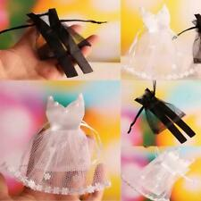 12pcs Veiling Wedding Bride Dress Groom Tuxedo Sweets Candy Bags Jewelry Pouches