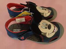 NWT Boys Disney Mickey Mouse Hiker Shoes Sandals Navy Blue + Red   Size 1
