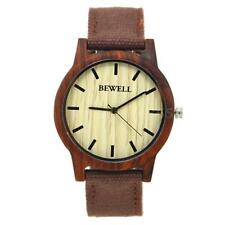 Men Women Retro Wood Watches Japan Quartz Movt Nylon Band Wristwatch BEWELL M2I2