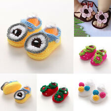 2017 Newborn Baby Infant Boys Girls Crochet Knit Toddler Booties Crib Shoes 1~5#