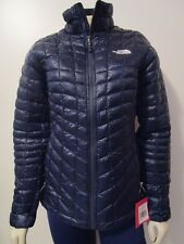Womens TNF The North Face Thermoball Full Zip Puffer Insulated Warm Jacket Blue