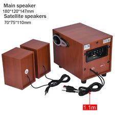 Wooden Wireless Bluetooth Classic Wood HIFI Stereo Bass Phone Computer Speaker G
