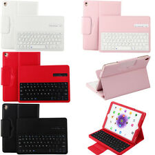 Leather Buckle Wireless Bluetooth Keyboard Case Stand for Samsung Galaxy Tablets