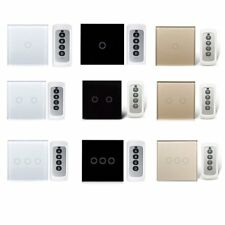 EU Plug 433MHz Panel Smart Touch Wall Light Switch 3/2/1 Gang 1 Way with Remote
