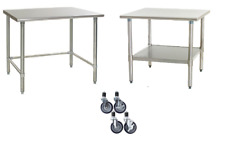 Stainless Steel Work Table | Food Prep NSF | Utility Work Station | All Sizes