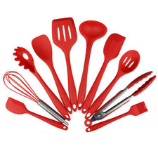 10 Pcs Kitchen Utensil Set Silicone Spoon Baking Cooking&Baking Tools Non-Stick