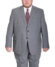 Palm Beach Portly Light Heather Gray Wool Blend Suit Separates