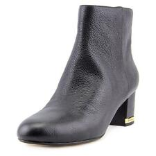 Michael Michael Kors Sabrina Mid Bootie Women Round Toe Leather Black Ankle Boot