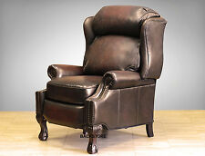 NEW Barcalounger Danbury II Genuine Stetson Coffee Leather Recliner Chair