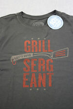 "LIFE IS GOOD Mens Night Black ""Grill Sergeant"" Soft Crusher T-Shirt NWT  S  M"