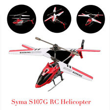 Syma 3 Channel S107G Mini Indoor Co-Axial R/C Helicopter Gyro Red RC LOT GA