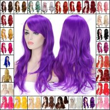 Women Girls Long Hair Full Wig Real Synthetic Hair Costume Cosplay Wigs Mg890