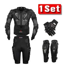 Motorcycle Body Protection Armor Protective Jacket Shorts Pants Knee Pad Gloves