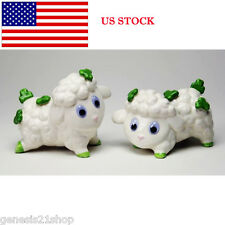 Shamrock Sheep Salt & Pepper Decorated Lambs Shakers
