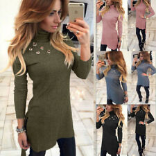 Sexy New Bodycon High-Necked Womens Fashion Long Sleeve Slim Long T-shirt