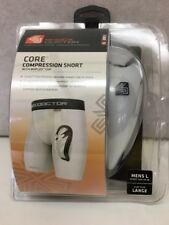 Men's Shock Doctor 221 Core Compression Short w/Bioflex Cup Shorts Supporter WHT