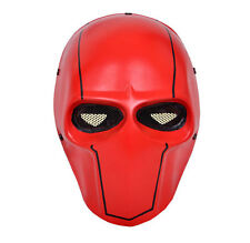 NEW Red Airsoft CS Paintball Full Face Wire Mesh Protection Skull Mask PROP M048