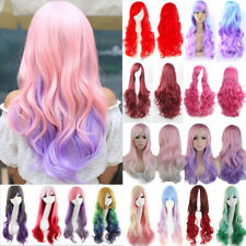 Top Sale Long Cosplay Hair Wig Curly Wave Straight Anime Costume Full Head Wigs