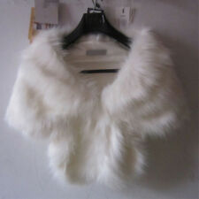 New Fashion Luxury Women Bridal Wedding Faux Fur  Shawl Stole Wrap Shrug Scarf