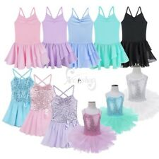 Toddler Girls Ballet Dress Kid Leotard Gymnastics Strap Tutu Skirt Fancy Costume
