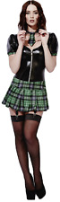 Ladies Fever Sexy Role Play Miss Behave Schoolgirl Fancy Dress Costume UK 4-18