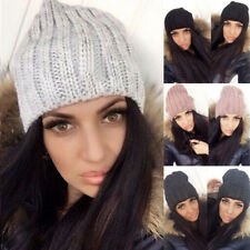 US Stock Unisex Women Men Knit Winter Warm Ski Crochet Slouch Hat Cap Beanie