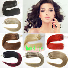 Thick1g/s7A Indian Remy Human Hair DIY Micro Ring Beads Loop Tip Hair Extensions