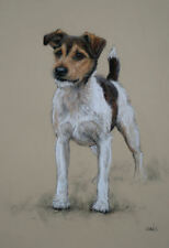 Jack Russell terrier dog art home decor LE print dog gift wall art by H Irvine