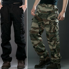 Men Casual Soft Cotton Military Army Cargo Combat Work Pants Camouflage Trousers