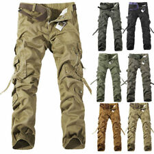 Mens Outdoor Work Tactical COMFY Trousers Casual Cargo Baggy Combat Long Pants