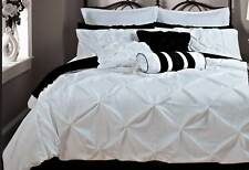 Fantine White embellished King Queen Size Duvet cover Quilt Cover Set pillowcase