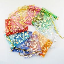 10/20/50pcs Organza Wedding Party Favor Decoration Gift Candy Sheer Bags Pouches