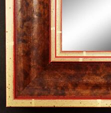 Wall Mirror Floor Mirror Passau in Red Brown/Gold 65,0