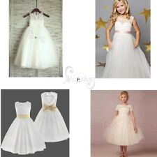 Baby Kids Flower Girl Wedding Bridesmaid Princess Pageant Formal Tutu Lace Dress