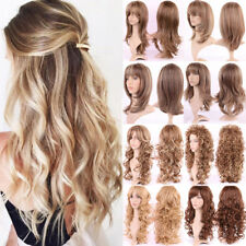 Ombre Black Blonde Color Long Nature Wavy Synthetic Fiber Cosplay Full Wig Mlp