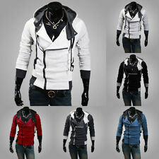 Fashion Men's Assassins Creed Costume Slim Hoodie Cosplay Coat Jacket Outerwear