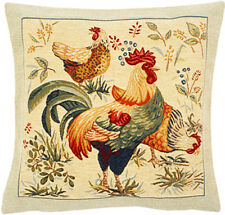 Picota French Rooster Tapestry Cushion Pillow Cover - 18 x 18 - NEW