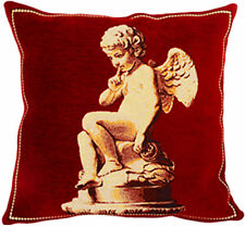 Cupid French Tapestry Cushion Pillow Cover - 18 x 18 - NEW