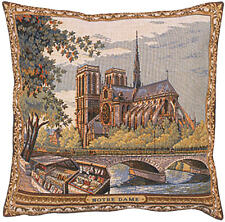 Notre Dame French Tapestry Cushion Pillow Cover - 18 x 18 - NEW