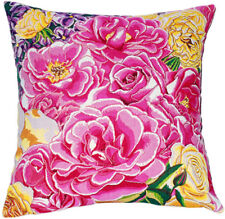 Roseraie Floral French Tapestry Cushion Pillow Cover - 18 x 18 - NEW