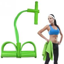 Sit Up Pull Ropes Resistance Bands 4 Tube Exerciser Strong Fitness Latex Pedal