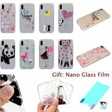 GLITTER BLING CRYSTAL CLEAR GEL TPU SOFT RUGGED Back Case Cover For Apple iPhone