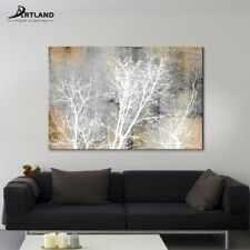 Landscape Painting on Canvas Wall Art 'Aurora Silhouette Ⅱ ' Abstract Printing