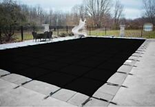 HPI Rectangle BLACK MESH In-Ground Swimming Pool Safety Cover-12 Yr Limited WTY